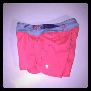 Ivivva by Lululemon Speedy Shorts- Coral/Blue